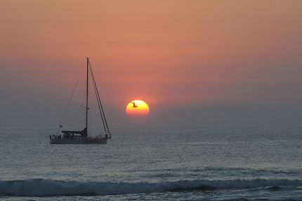 Coucher de soleil à Chacahua