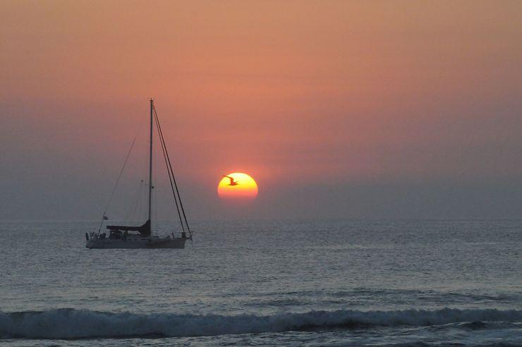 Coucher de soleil à Chacahua, Mexique