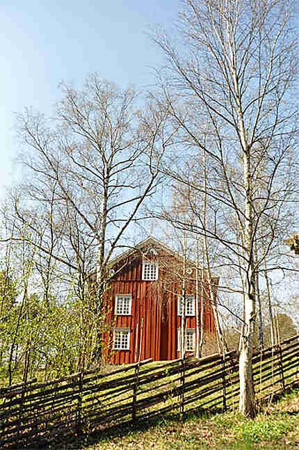 La maison rouge typique Suèdoise