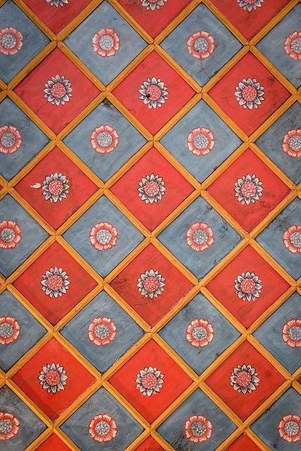 Alger - Palais des Raïs - Plafond fleuri