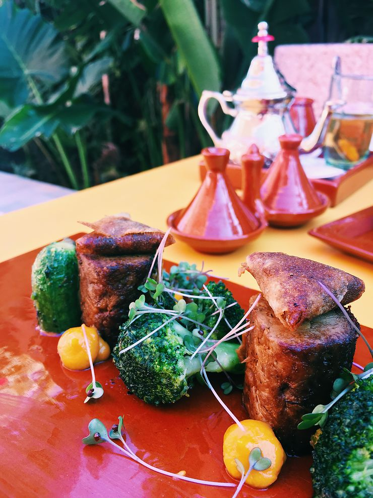 Un repas dans la médina, Marrakech