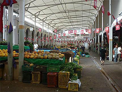 Un des marchés couverts de Tunis