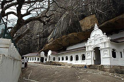 Entrée des grottes de Dambulla