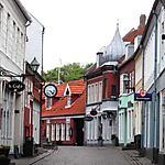 Une rue dans la vieille ville à Ebeltoft