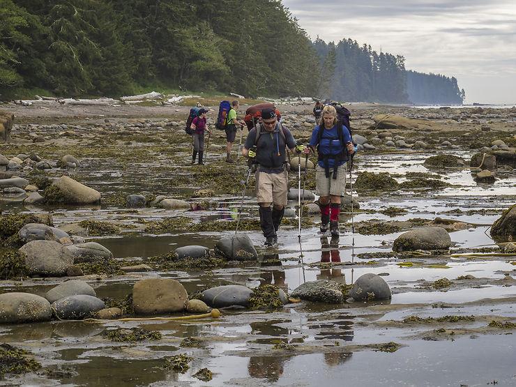 La West Coast Trail, le long du Pacifique