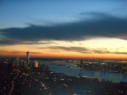 Coucher de soleil vu de l'Empire State Building