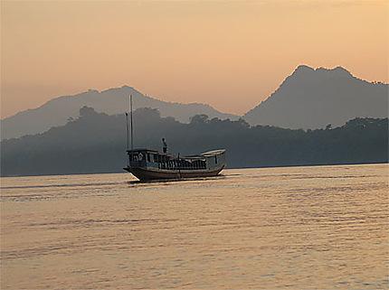 Coucher du soleil à Luang Prabang