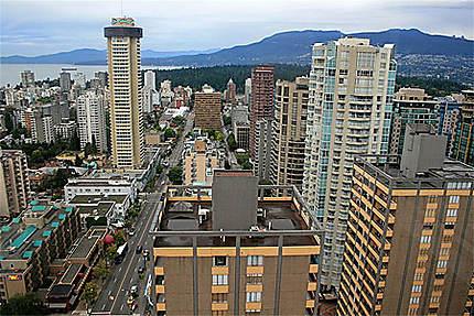 Vue de Vancouver depuis l'hôtel Blue Horizon