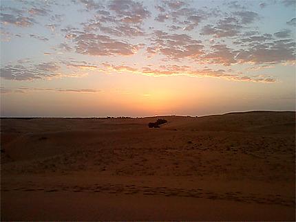 Coucher de soleil au désert de Lompoul