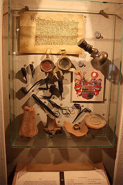 Exposition sur l'histoire du château