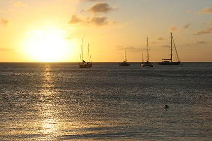 Coucher de soleil dans les Grenadines