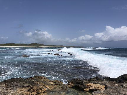 A l'extrême est de la Guadeloupe