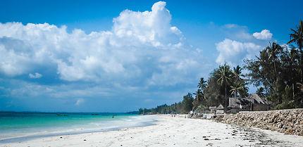 Sable blanc à Zanzibar