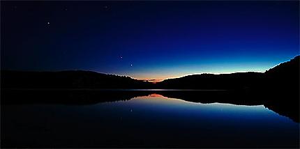 Coucher de soleil sur le lac Mercier