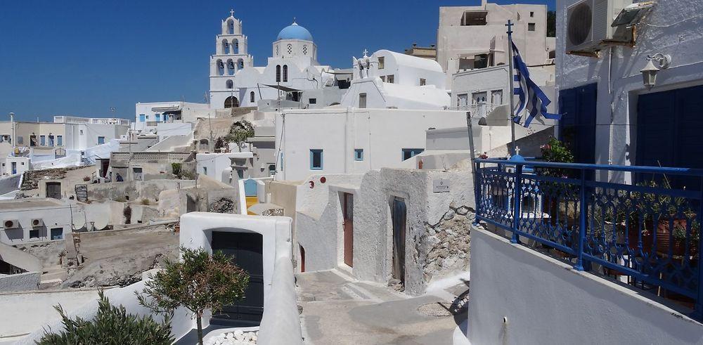 Récit Santorin la carte postale des Cyclades