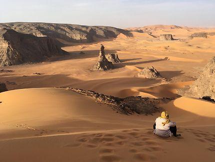 Moul n'aga dans la Tadrart rouge Djanet Algerie