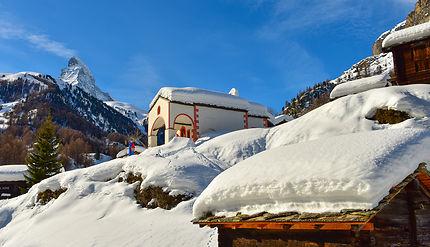À Blatten, la chapelle vole la vedette au Cervin