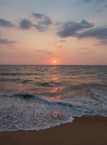 Coucher de soleil à Negombo
