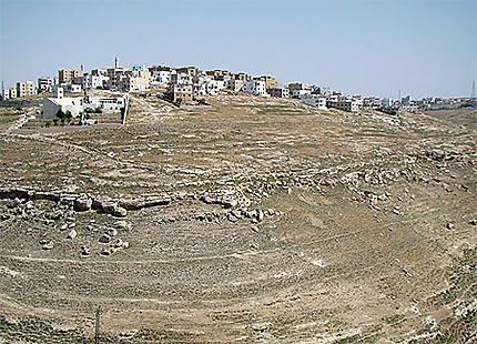 Cité de Kerak en Jordanie vue de loin