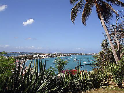 Panorama de Marigot à St-Martin