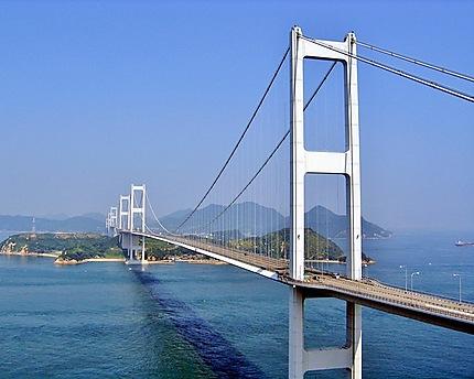Eclaircie sur le triple-pont  avec six arches