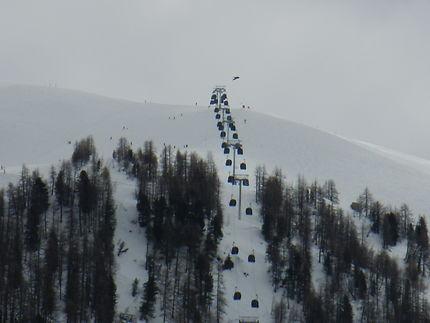 Paysage de neige à Val-d'Isère