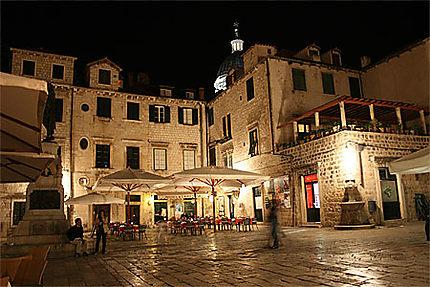 Vieille ville de Dubrovnik de nuit