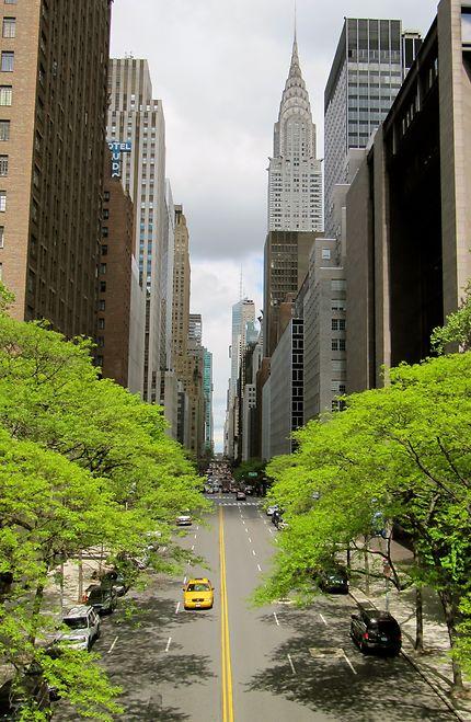 Route au coeur de New York
