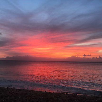 Soleil couchant dans les Caraïbes