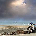 Vélo devant la plage