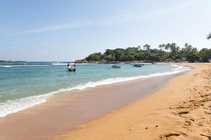 Les plages de Hikkaduwa à Unawatuna