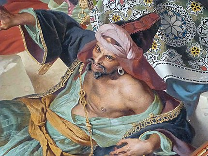 Détail de peinture au Vatican