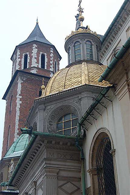 Coupoles de la cathédrale, sur le Wawel