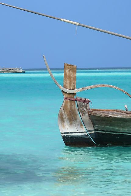 Bateau traditionnel de pêcheur maldivien