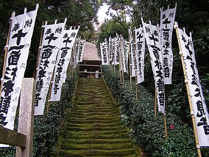 Kamakura - Les escaliers menant au temple Sugimoto-Dera