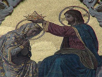 Mosaïque en façade de la cathédrale de Sienne