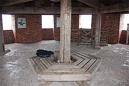 Au sommet de la tour du château
