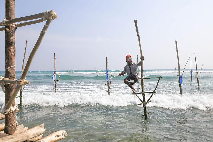 Ahangama : les pêcheurs traditionnels du Sri Lanka