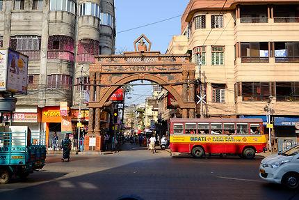 Kolkata, axe menant vers le quartier des potiers