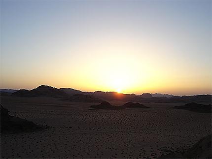 Coucher de soleil à Wadi Rum