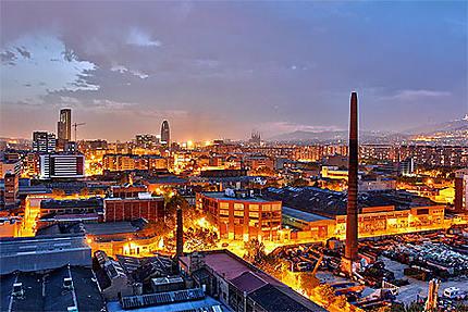 Crépuscule sur Barcelone
