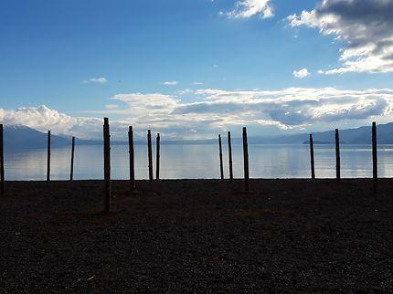 Lac Ohrid en hiver