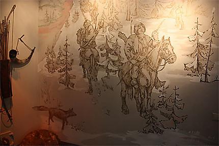 Peinture dans la maison du gardien du château