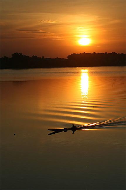 Sunset sur le Mékong