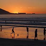 Ambiance sur la plage de Minelton