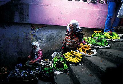 Femmes vendant des bananes