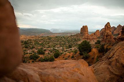 Arches Valley avant l'orage, Utah