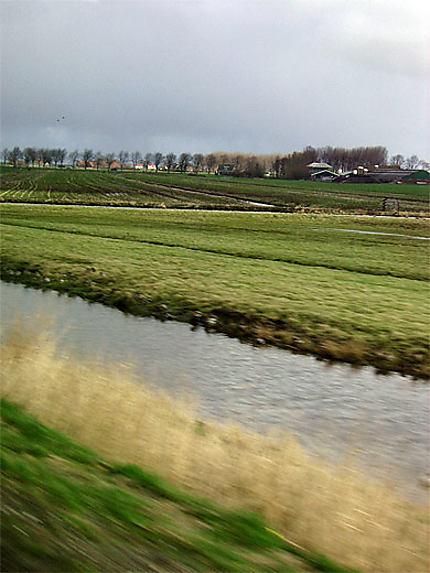 Sur la route d'Amsterdam à Enkhuizen