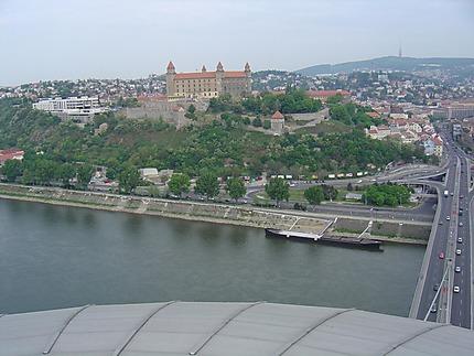 Le château vu du restaurant panoramique