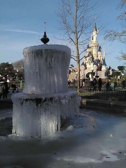 Fontaine gelée à Disneyland Paris